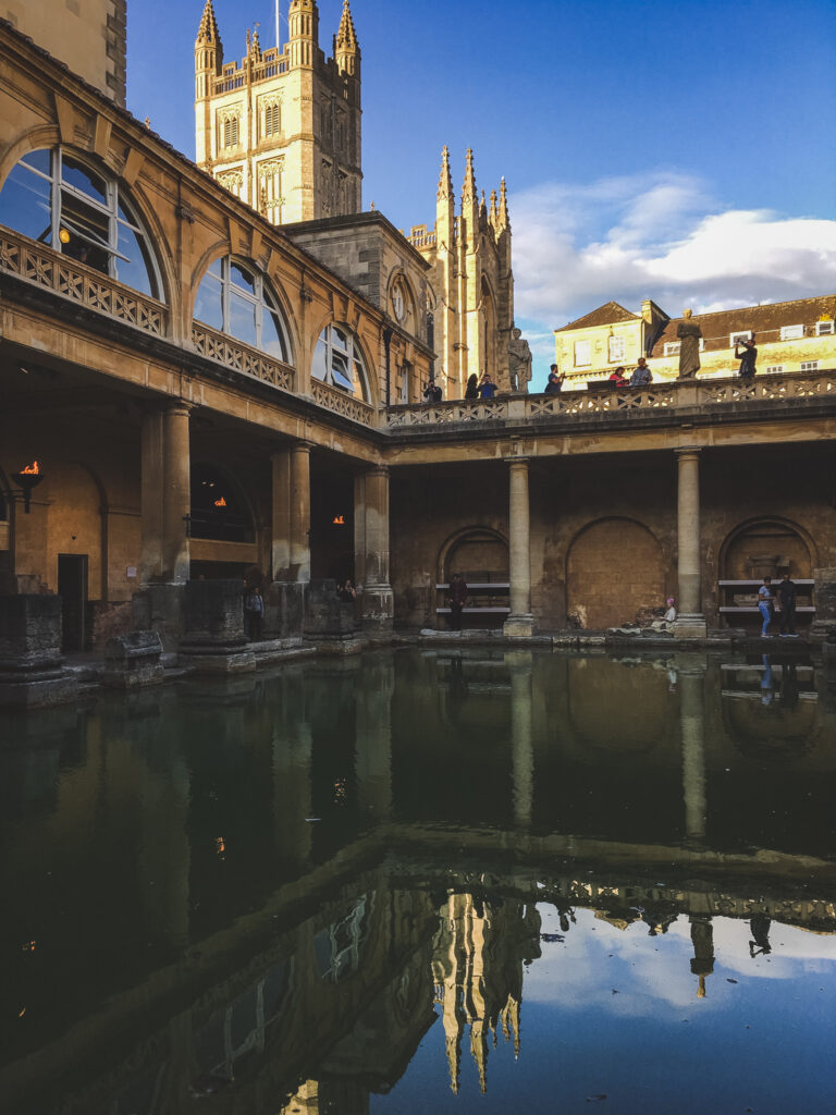 First stop during your 24 hours in Bath - the Roman Baths!