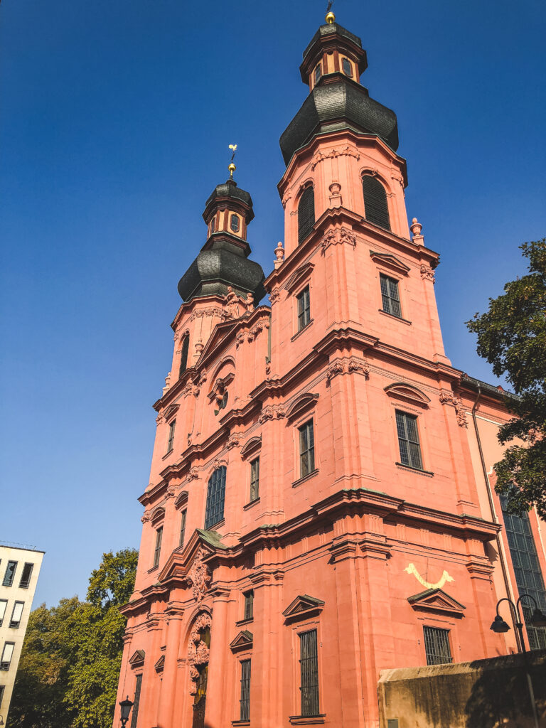 Peterskirche is one of the most important rococo-style buildings in Mainz