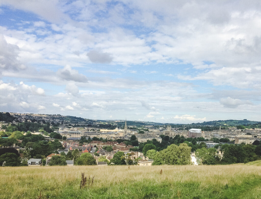 Spend your day in Bath with beautiful city views.