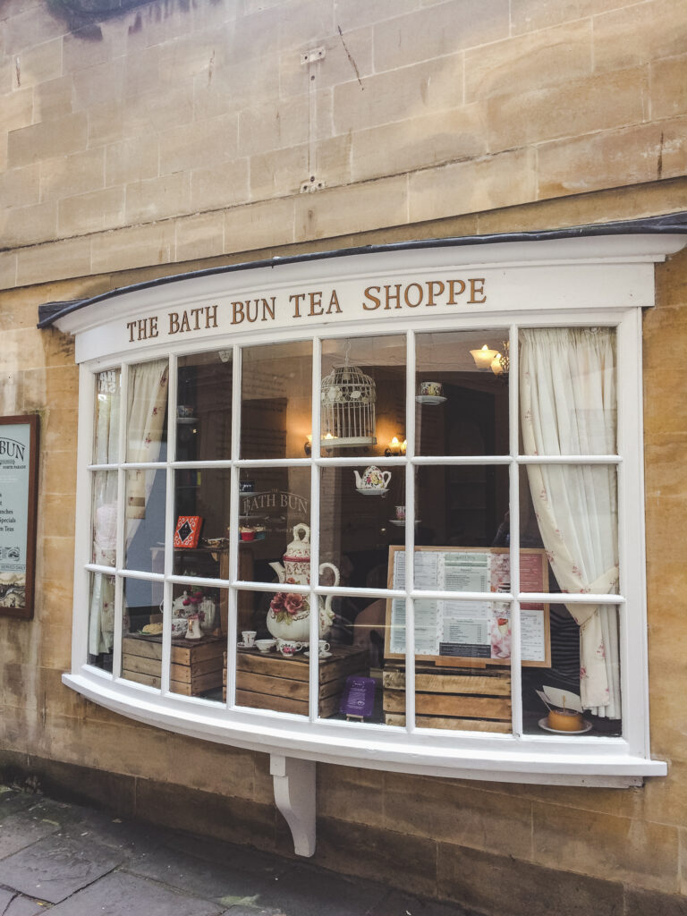 The Bath Bun Tea Shoppe is the ideal place in Bath to enjoy afternoon tea.