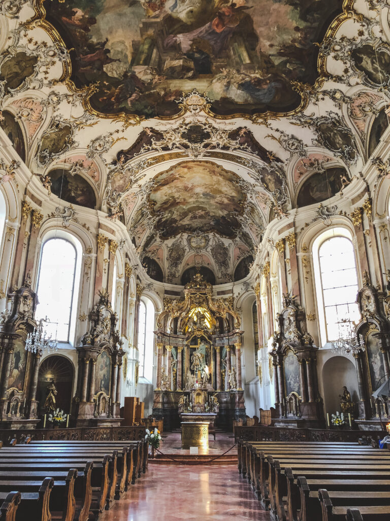 Augustinerkirche is a beautiful baroque church in Mainz that was untouched in WWII