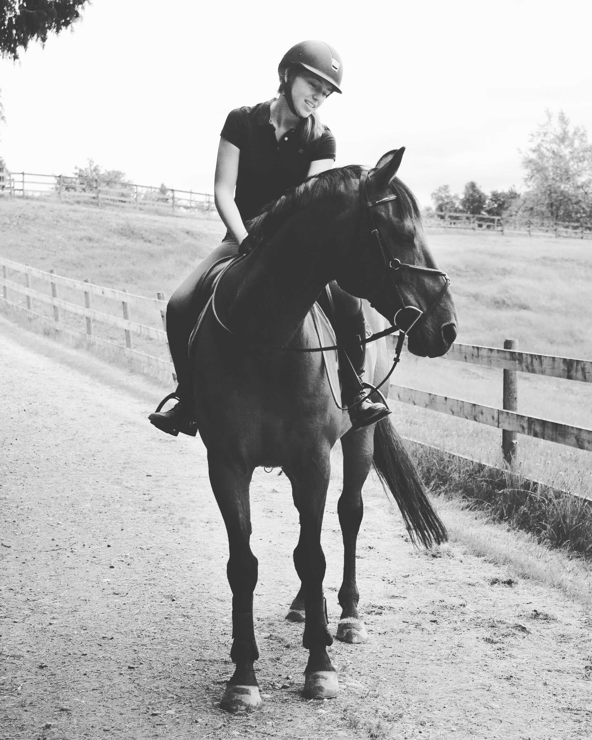 Kelly and her horse Levi