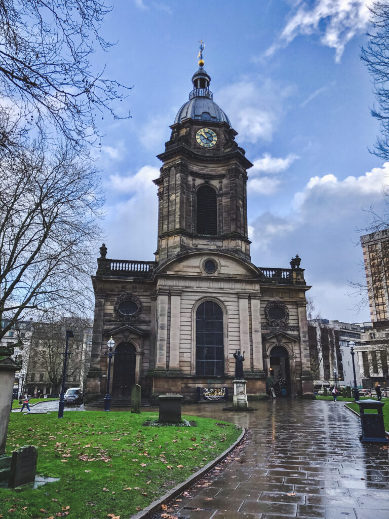 Birmingham Cathedral is one of the smallest cathedrals in England