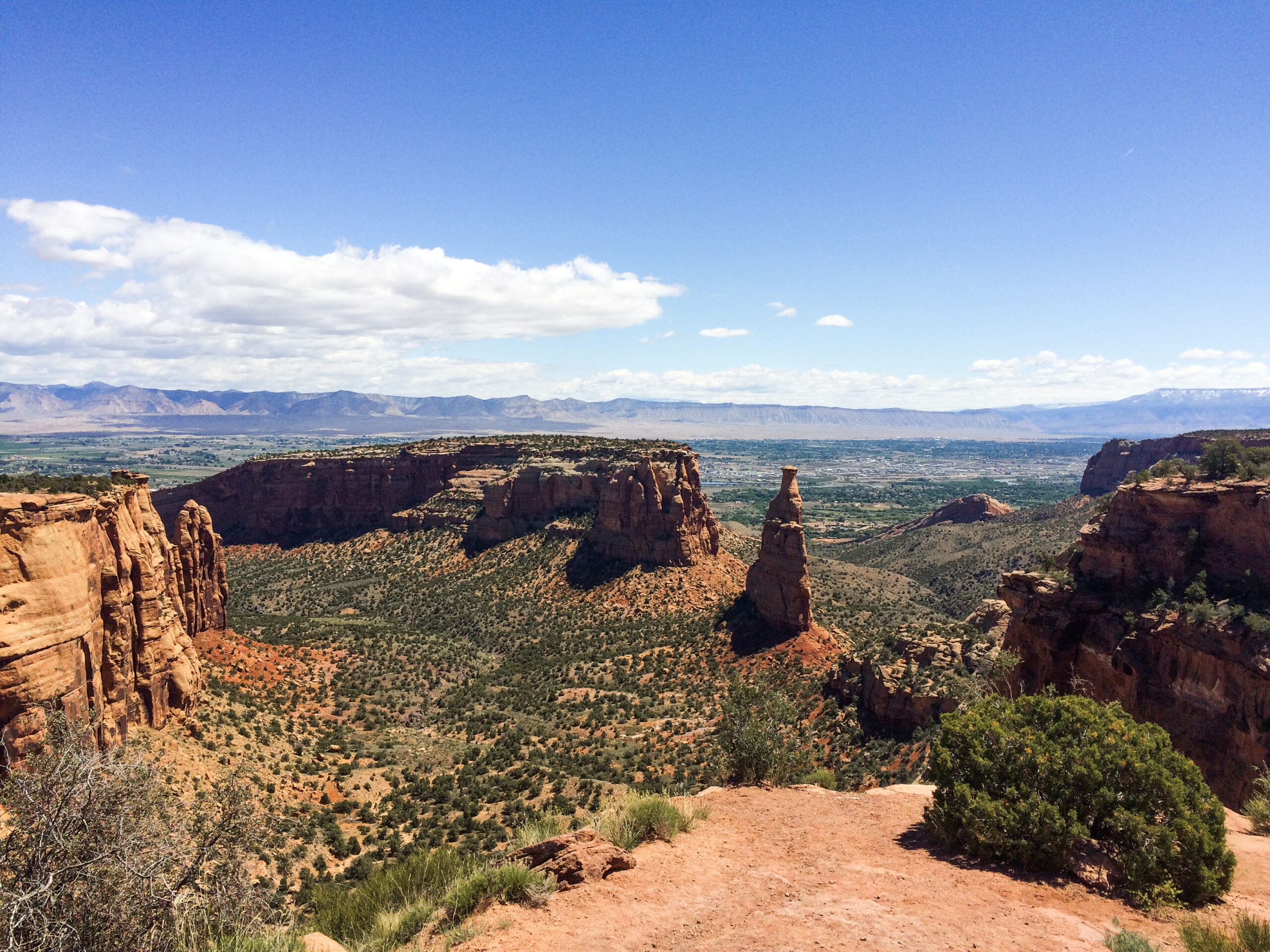 Views from the scenic Rim Rock Drive on the Colorado National Monument