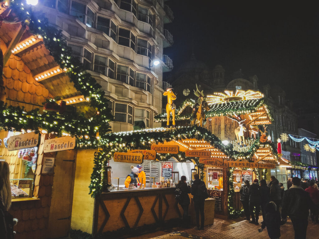 It's the largest Weihnachtsmarkt in the UK and many of its food, drink, and craft stalls come from Birmingham's sister-city of Frankfurt