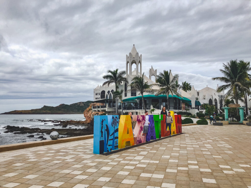 The malecon is an incredible beachfront promenade that stretches across Mazatlán, Mexico
