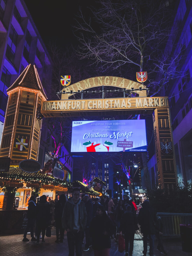 Birmingham is host to the largest traditional Christmas market outside of Germany or Austria