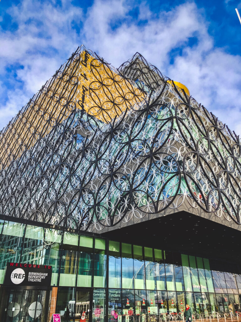 The modern library in Birmingham, England features one of the largest Shakespeare collections!