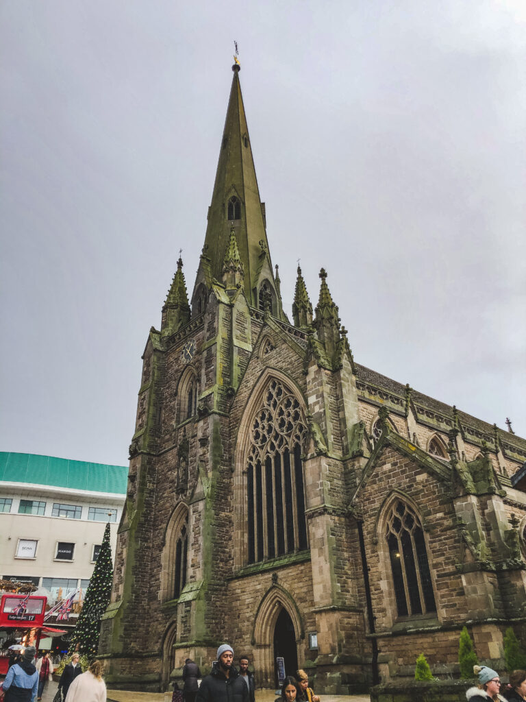 St. Martin's in the Bullring is right in the centre of Birmingham, England
