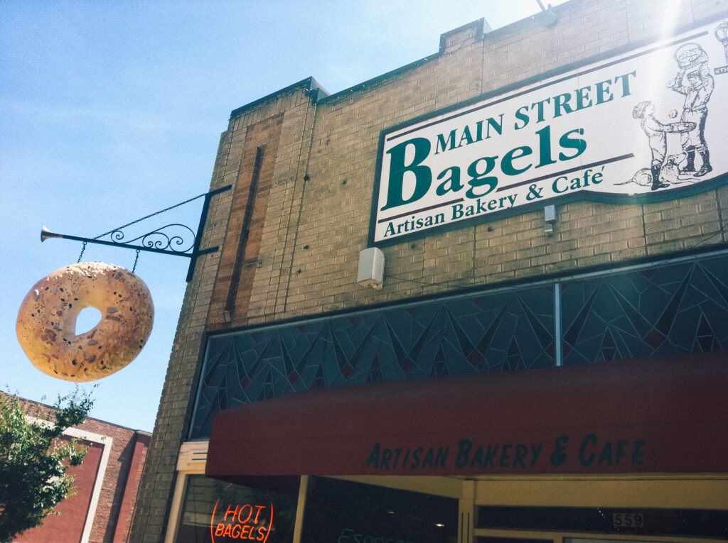 Main Street Bagel cafe in downtown Grand Junction
