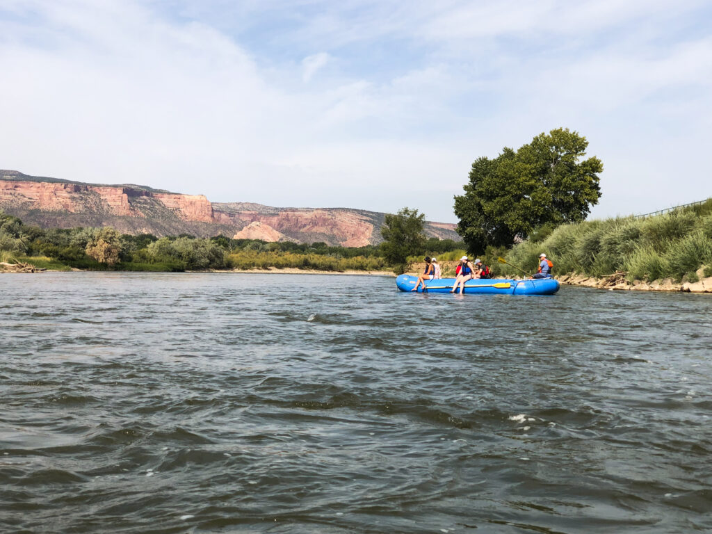 Rafting down the Colorado River in Grand Junction