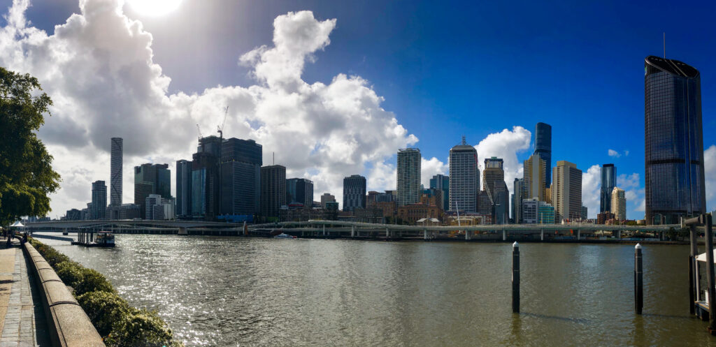 Panorama of the Brisbane, Australia skyline