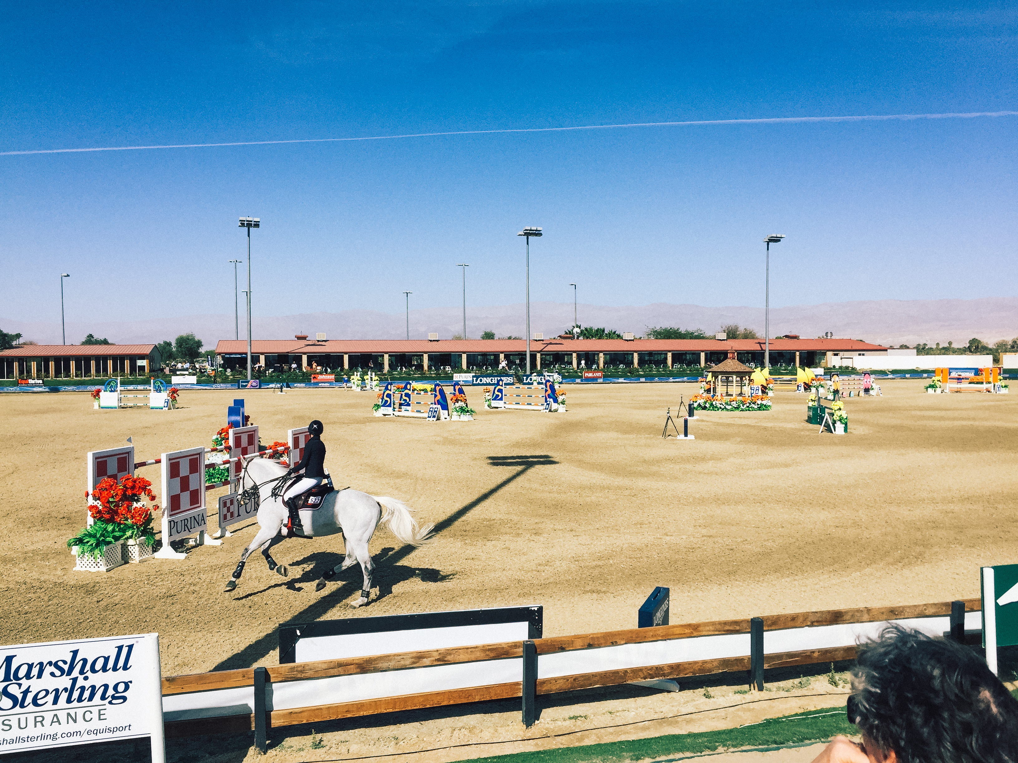 Watching a grand prix at HITS Desert Horse Park