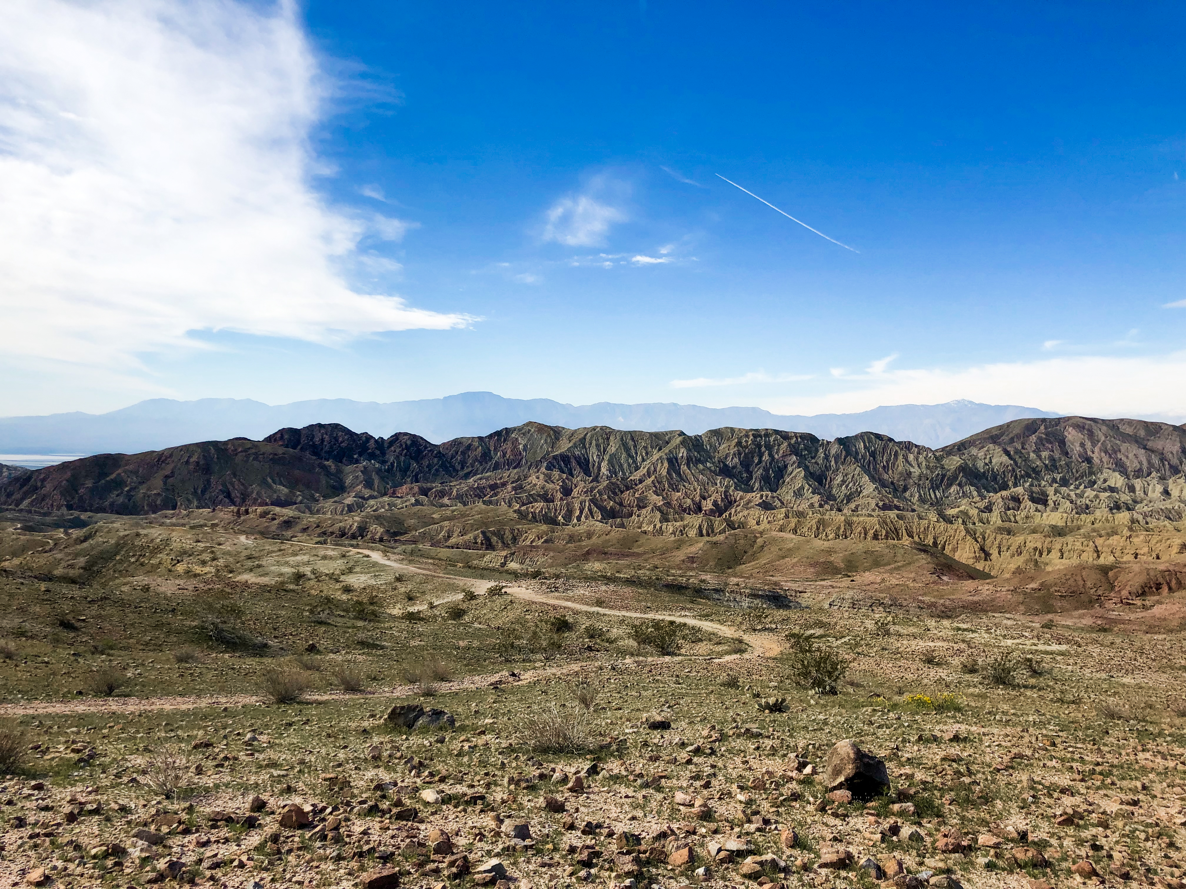Looking over Painted Canyon, southeast of Palm Springs, California