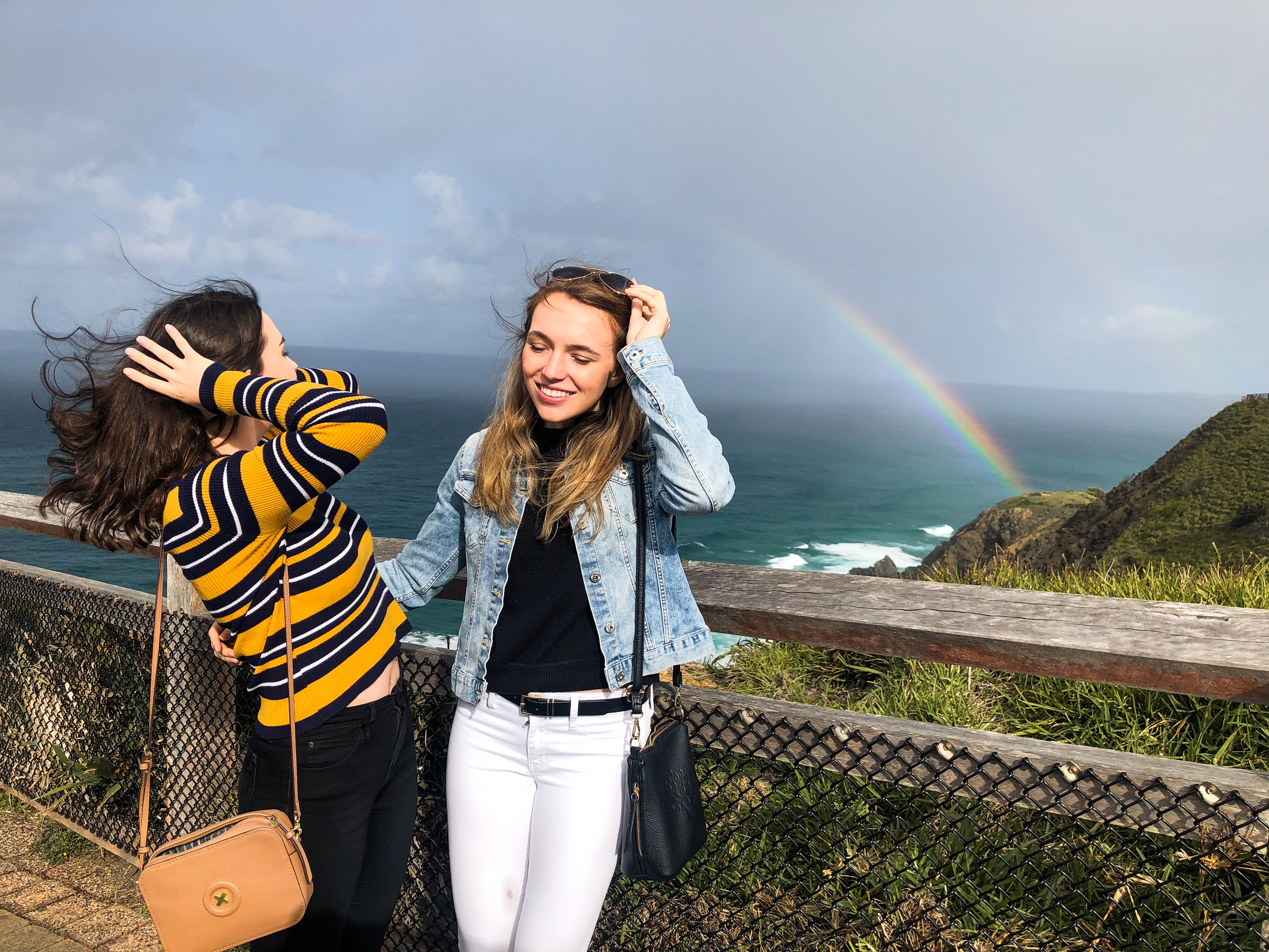 Watch out for the wind at Cape Byron - the most easterly point of Australia!