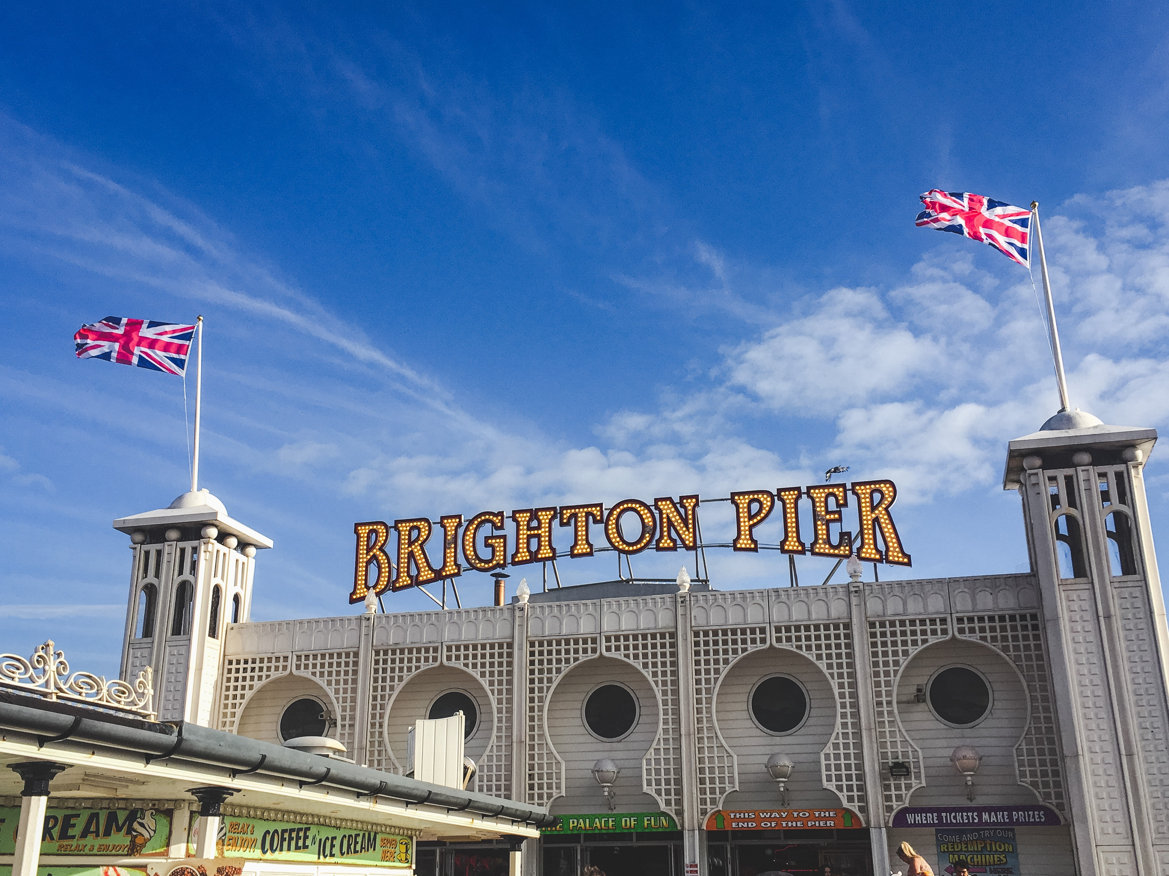 Brighton Pier is one of the most popular spots in the city!