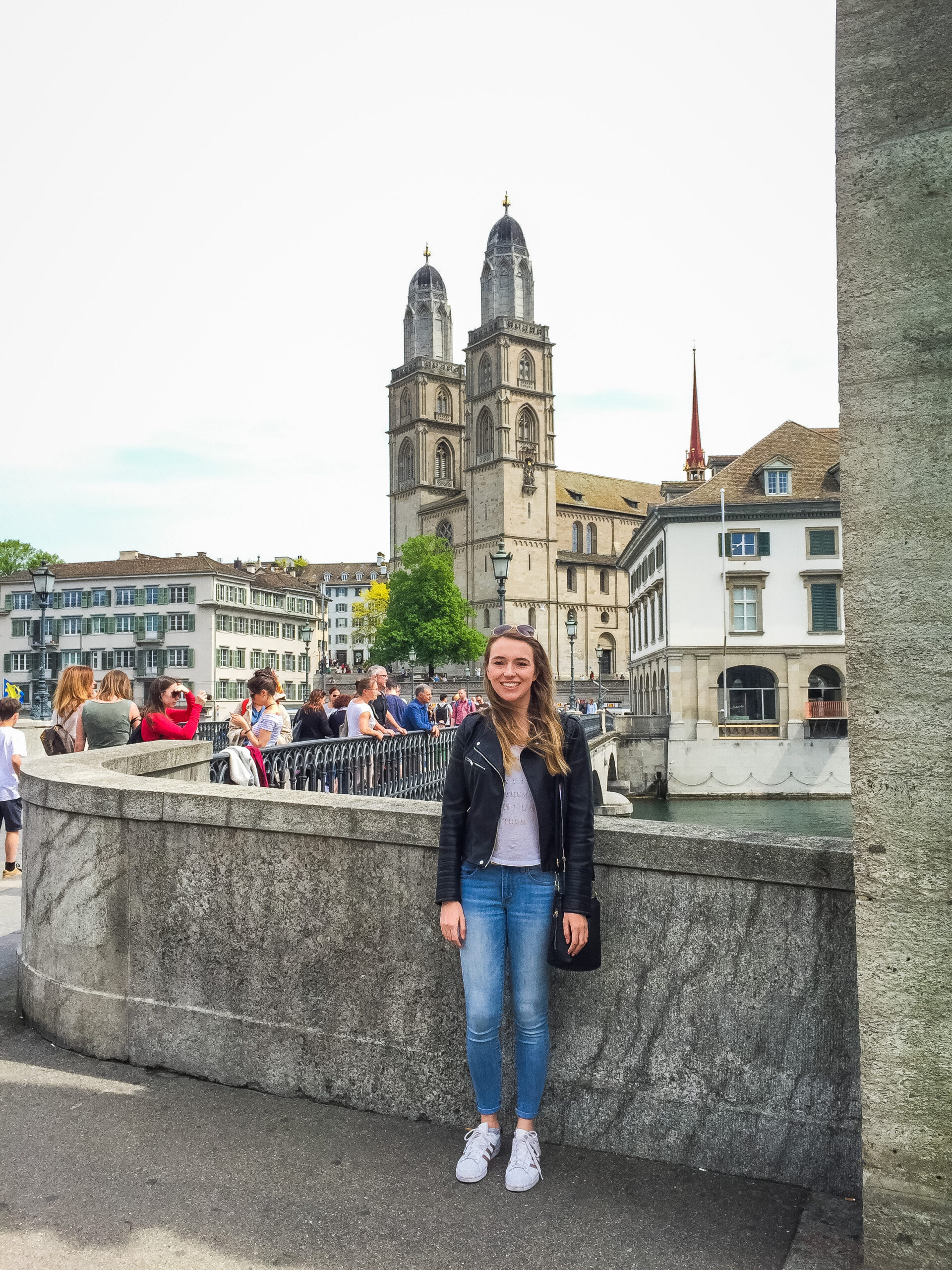 Grossmünster is a highlight when visiting Zürich, Switzerland