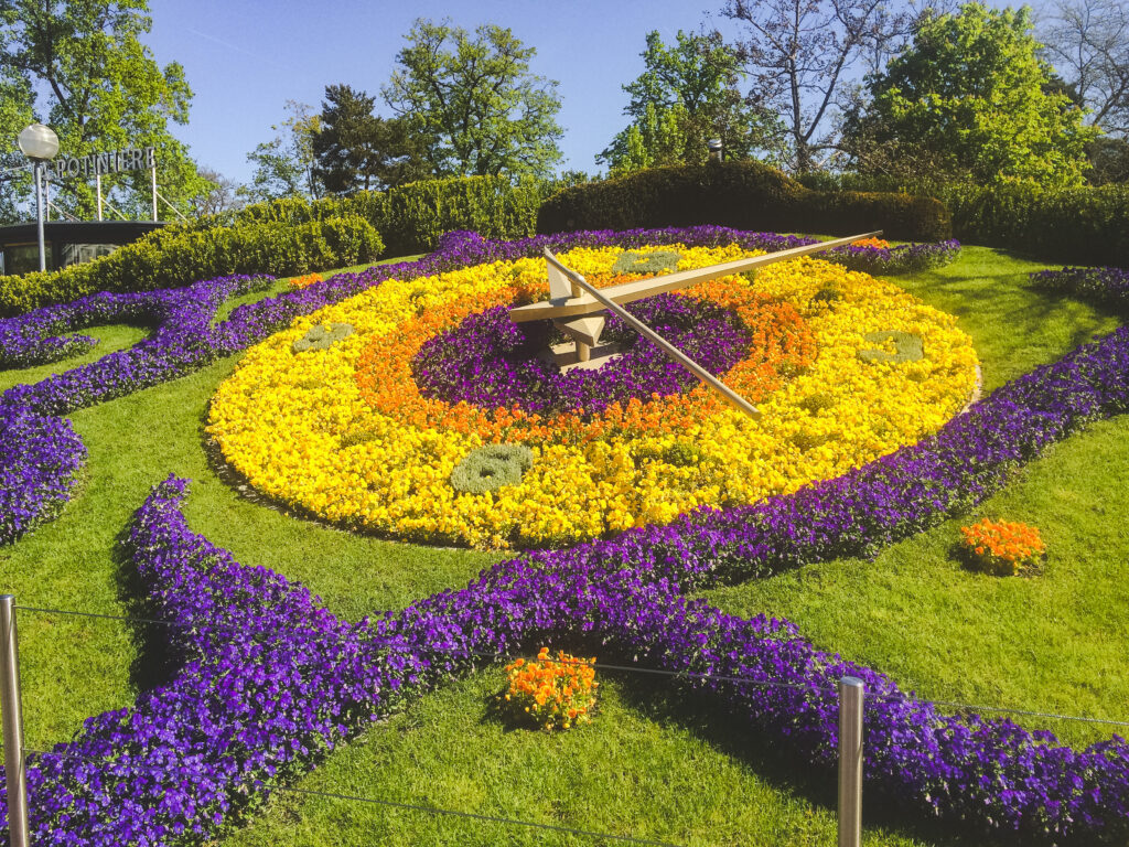 The Flower Clock in the English Garden is Geneva's most photographed clock