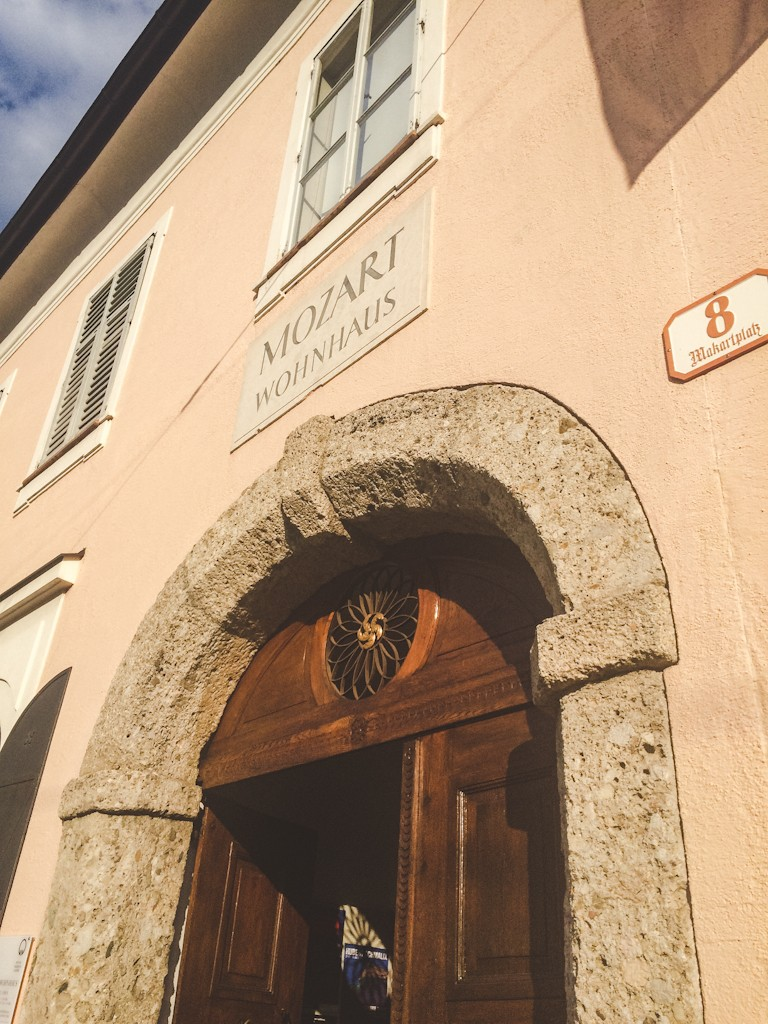 Mozart's Wohnhaus in Salzburg, Austria where he composed many of his works.