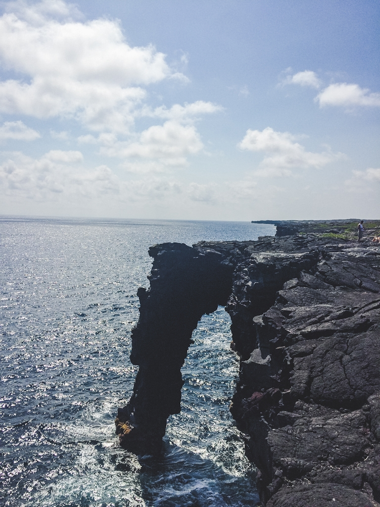 This sea arch can be found at the end of Chain of Craters road on the Big Island of Hawaii