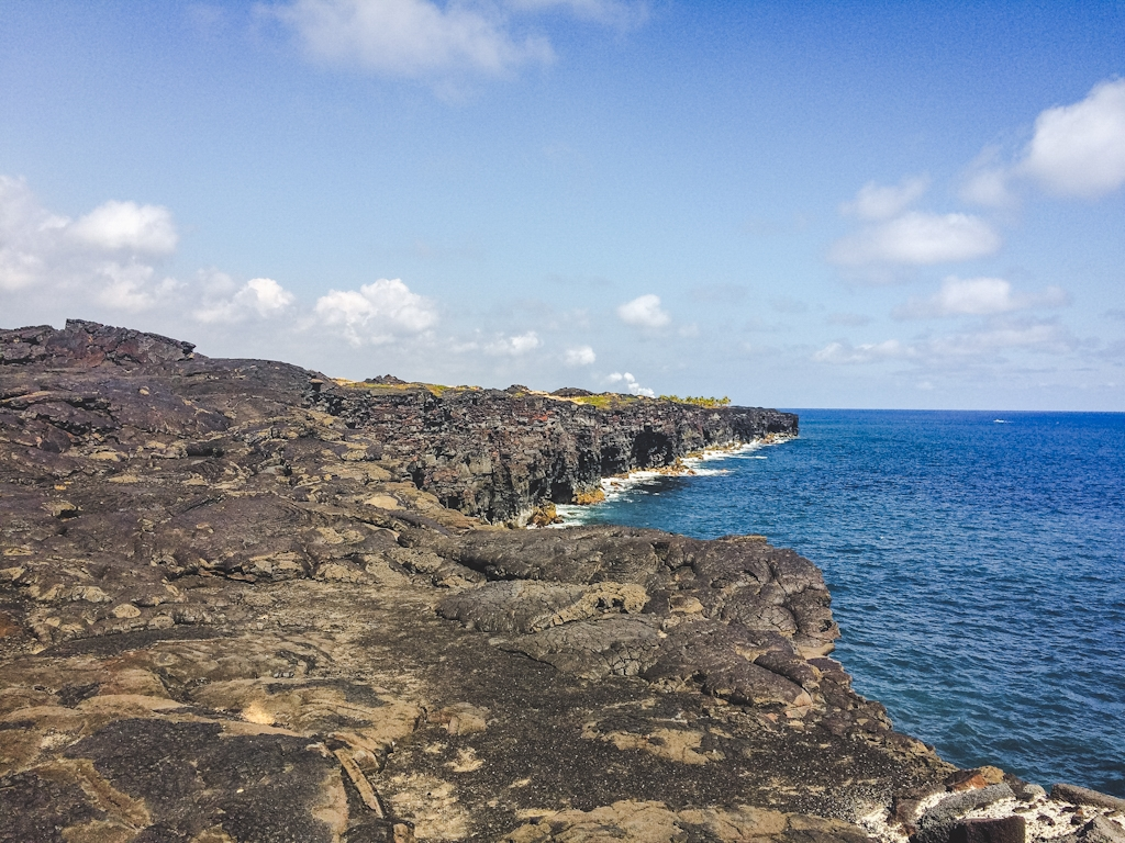 Chain of Craters Road used to lead to where lava still met the ocean waves