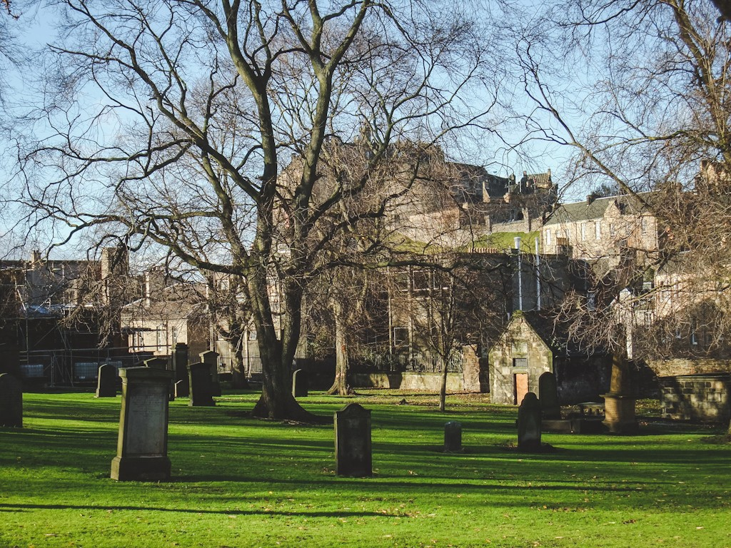 Greyfriars Kirkyard is Edinburgh's most famous cemetery. Many famous Edinburgh names are buried here including the inspiration of J.K. Rowling's famous villain Voldemort. Rowling is said to have been inspired by the grave of 19th-century gentleman Thomas Riddell, who died in 1806.