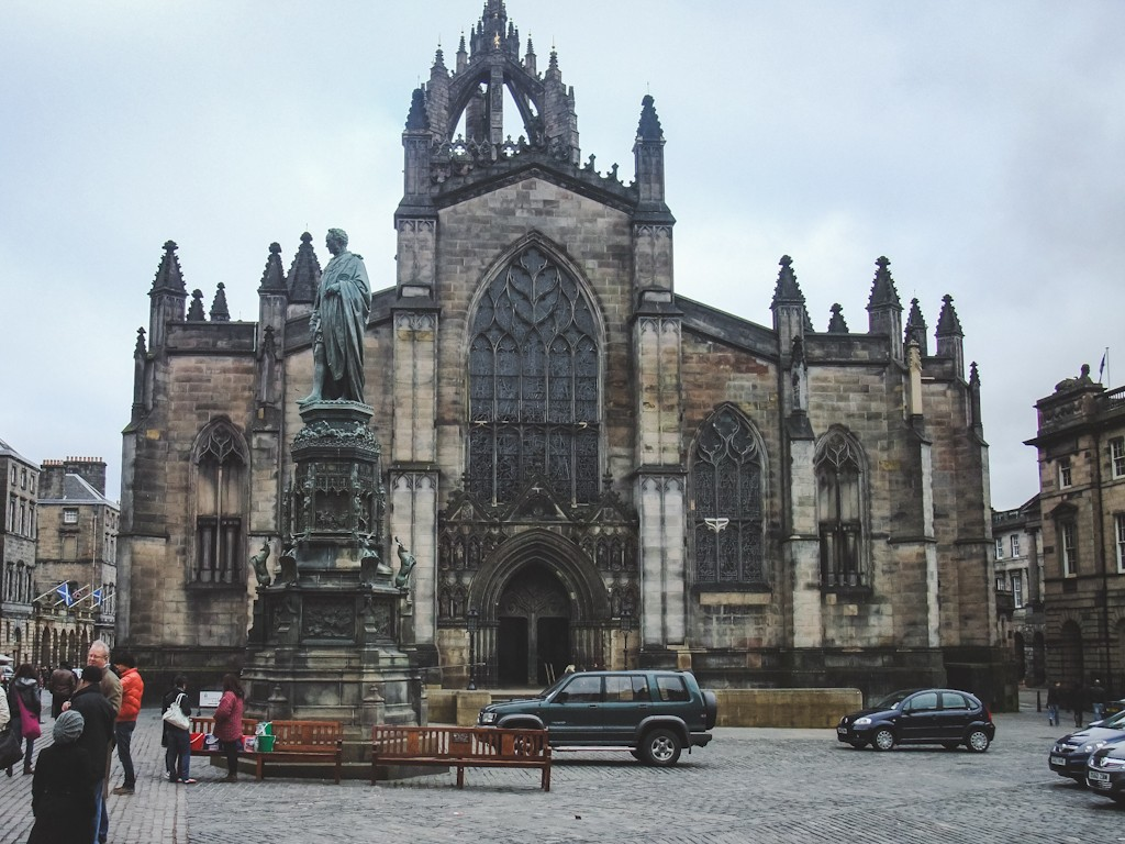 St. Giles Cathedral is a historic Cathedral that dates largely from the 15th century. Properly called the High Kirk of Edinburgh, the church was named after the patron saint of cripples and beggars.