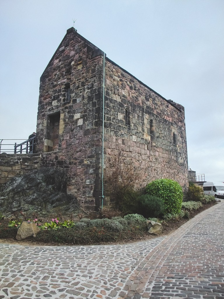The highest part of Castle Rock is the tiny St. Margaret's Chapel, which is the oldest surviving building in Edinburgh (built around 1130).