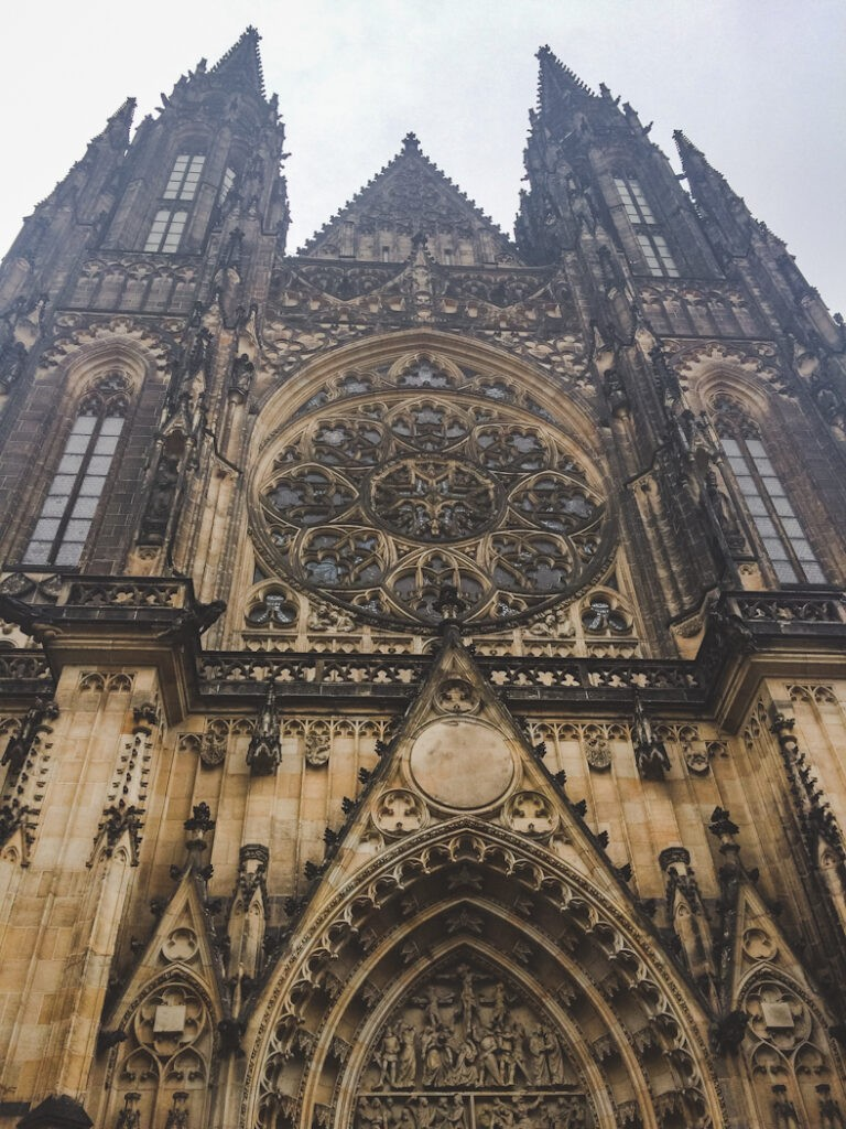 Built over a time span of almost 600 years, St. Vitus Cathedral is the most religious and culturally prevalent cathedral in Czech history. It houses treasures from the 14th century and the tombs of St. Wenceslas, St. Vitus, and Charles IV. The foundation stone was originally laid in 1344 by Emperor Charles IV.