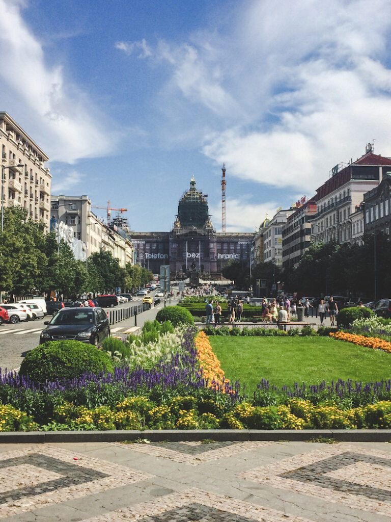 Wenceslas Square (Prague's biggest square) is watched over by the iconic monument to Saint Wenceslas. It's been a gathering place during many of the great events of modern Czech history