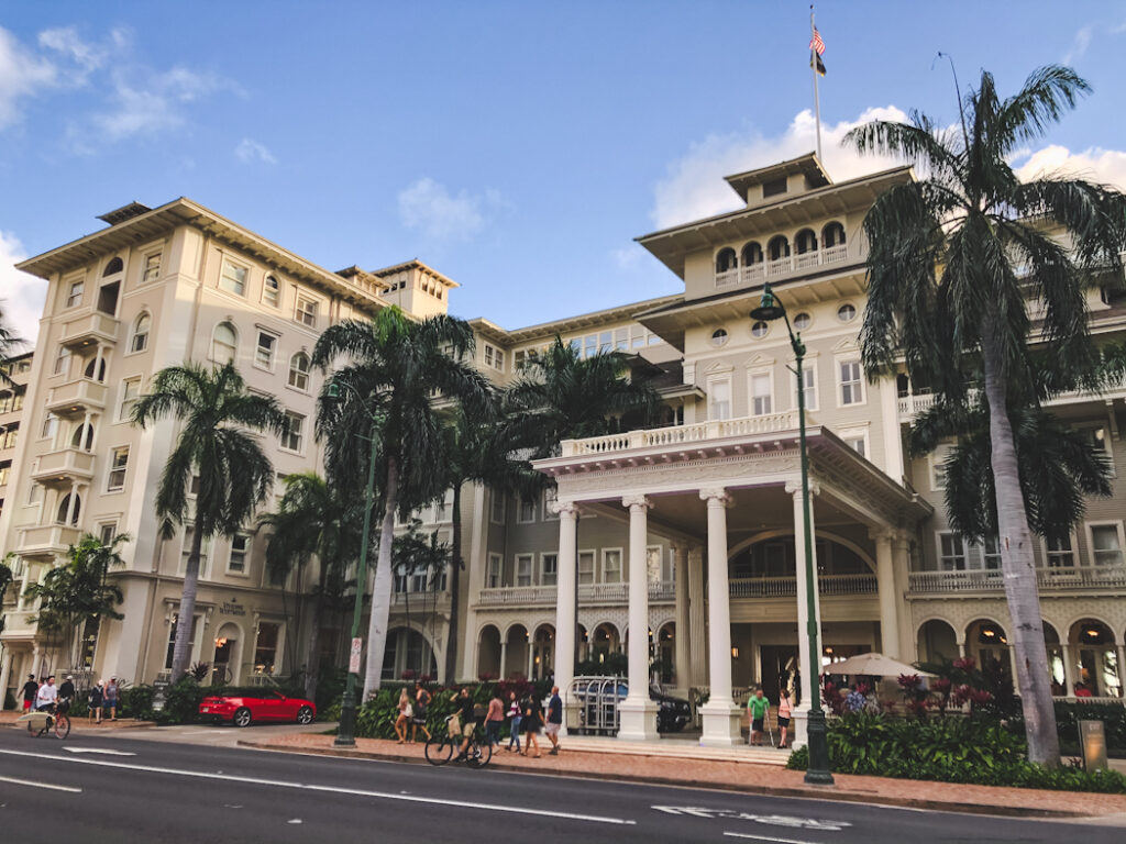 The Moana Surfrider Hotel has been a staple in Waikiki since it opened in 1901. This luxurious plantation-style hotel attracted movie stars and aristocrats to Oahu, Hawaii