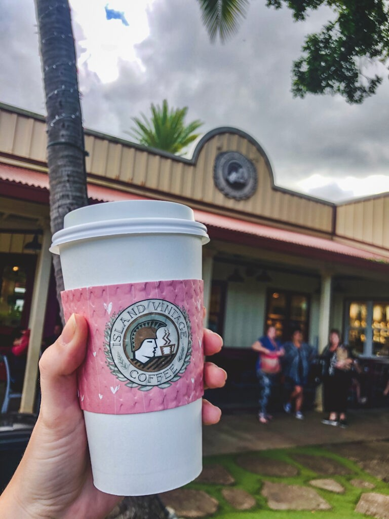 Island Vintage Coffee is a great cafe that showcases Hawaiian coffee and also features other locally-made items. All of their products are from local artisans and growers in Oahu, Hawaii