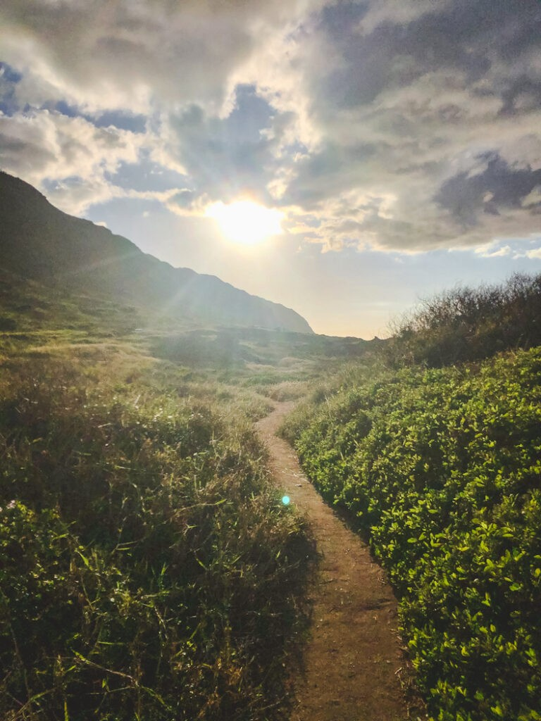 At the very end of Mokuleia where the road ends is Kaena Point State Park overlooked by beautiful hills and wide-open beaches. The hiking trail starts at the parking lot and follows an unpaved road.