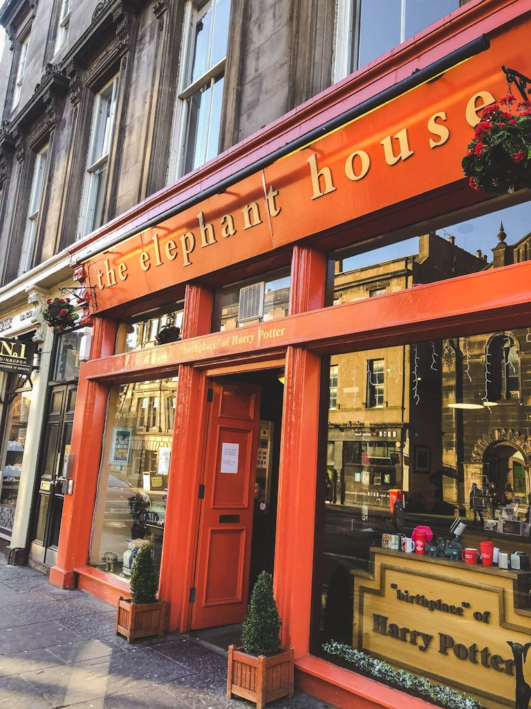 "The Elephant House is the self-proclaimed ""birthplace of Harry Potter."" Legend has it that back in the 1990's when writing Harry Potter and the Philosopher's Stone, J.K. Rowling would frequent The Elephant House for their free heating and cozy atmosphere."