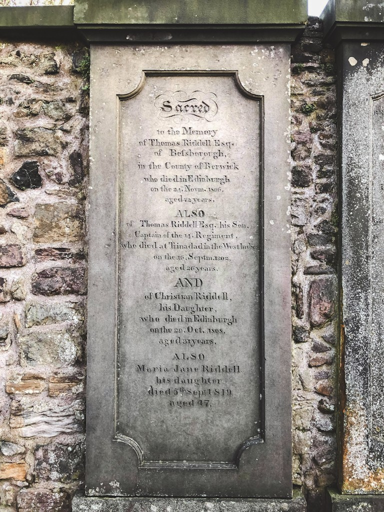 Greyfriars Kirkyard is Edinburgh's most famous cemetery. Many famous Edinburgh names are buried here including the inspiration of JK Rowling's famous villain Voldemort. Rowling is said to have been inspired by the grave of 19th-century gentleman Thomas Riddell, who died in 1806.