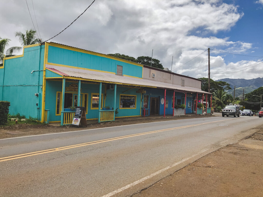 Your first stop along the North Shore of Oahu, Hawaii will be the charming town of Haleiwa, about a one-hour drive from Waikiki. It's a laid-back surf town that's also filled with local boutiques, charming art galleries and colourful buildings.