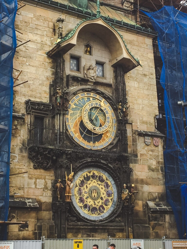 Prague's Astronomical Clock is a historic, symbolic masterpiece built in medieval times. It's the world's oldest functioning clock and every hour the 12 mechanical apostles parade between small doorways above the face of the clock.