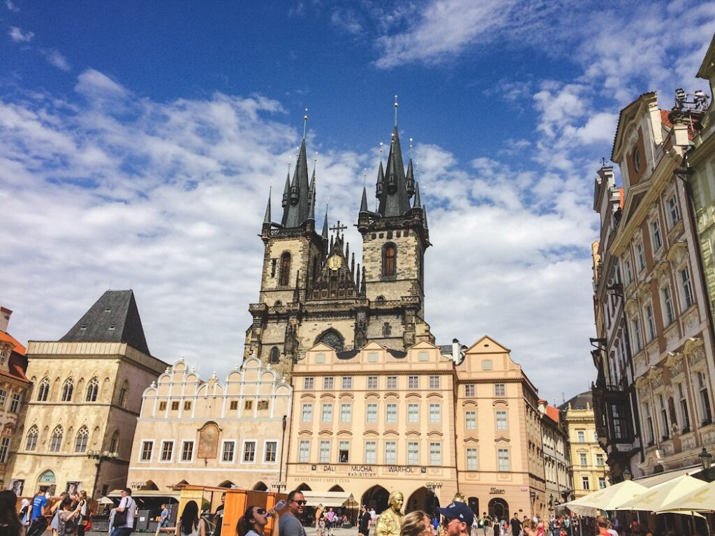 Its distinctive twin Gothic spires make the Church of Our Lady Before Týn an unmistakable Old Town landmark. It looks like something out of a 15th-century fairy tale as it looms over the Old Town Square.