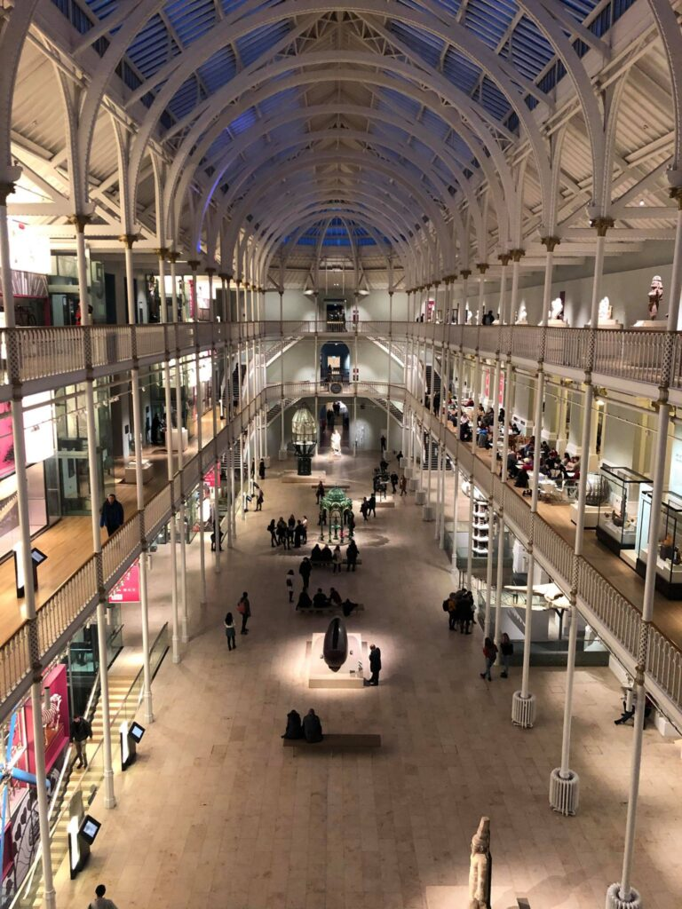 The National Museum of Scotland is spread between two buildings: one modern and one Victorian.